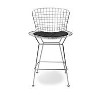 Tabouret de bar Wire - inspiré Harry Bertoia - Petit - Simili Cuir
