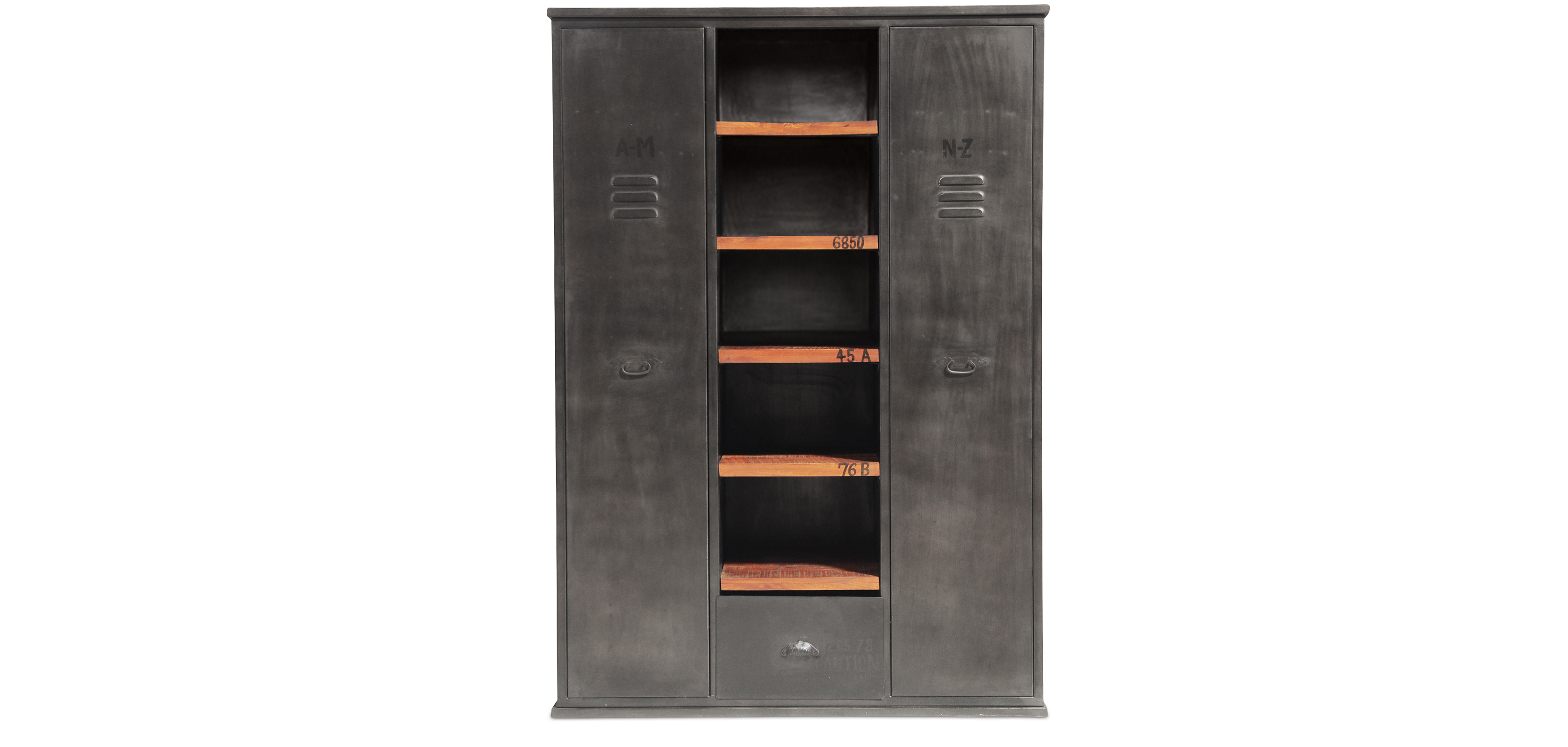 armoire vintage industriel m tal pas cher. Black Bedroom Furniture Sets. Home Design Ideas