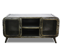 Meuble TV Style Industriel Antique Vintage Grange&Co - Fer
