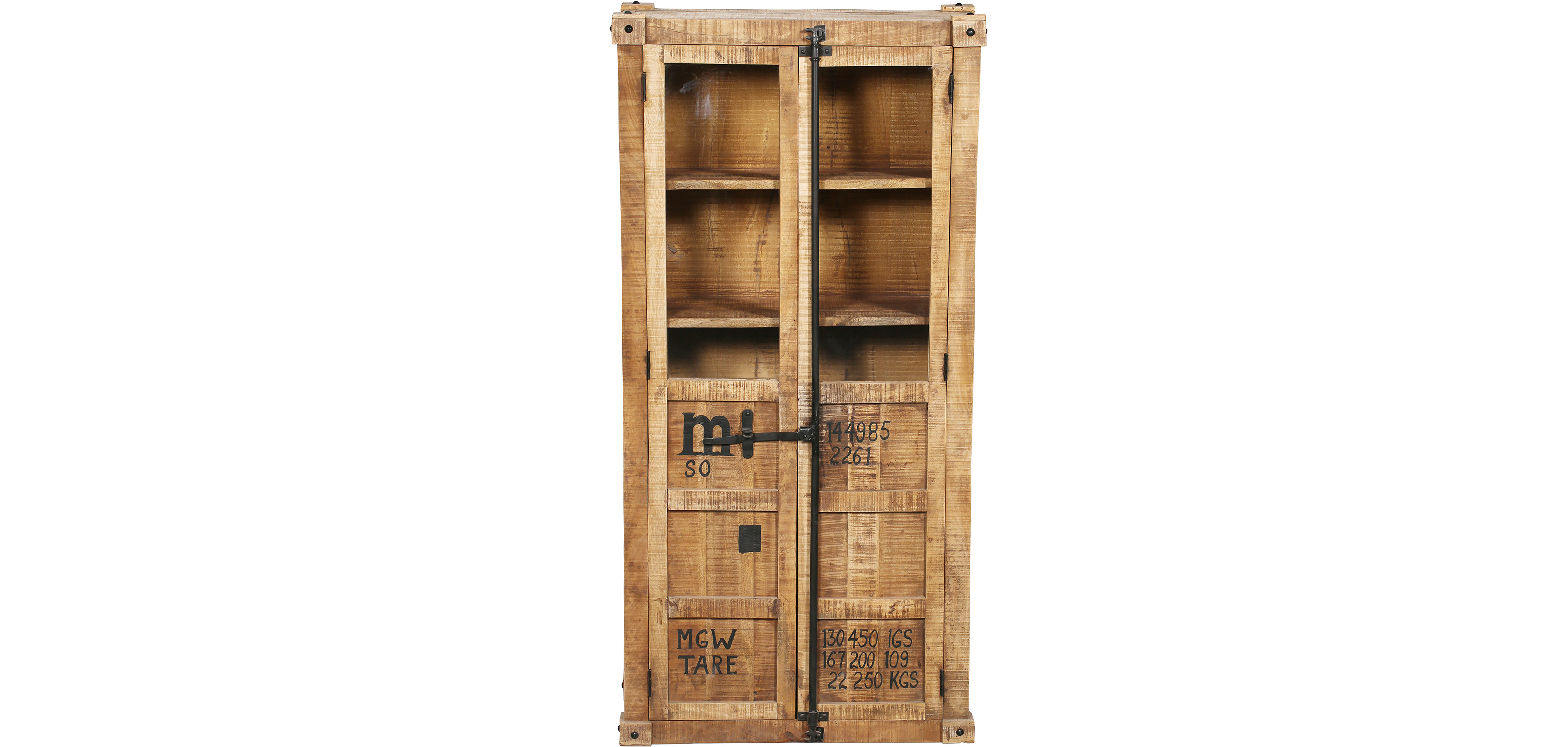 armoire en bois de manguier de style industriel pas cher. Black Bedroom Furniture Sets. Home Design Ideas
