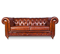 Canapé Chesterfield Churchill Lounge - 2 places  - Cuir Premium