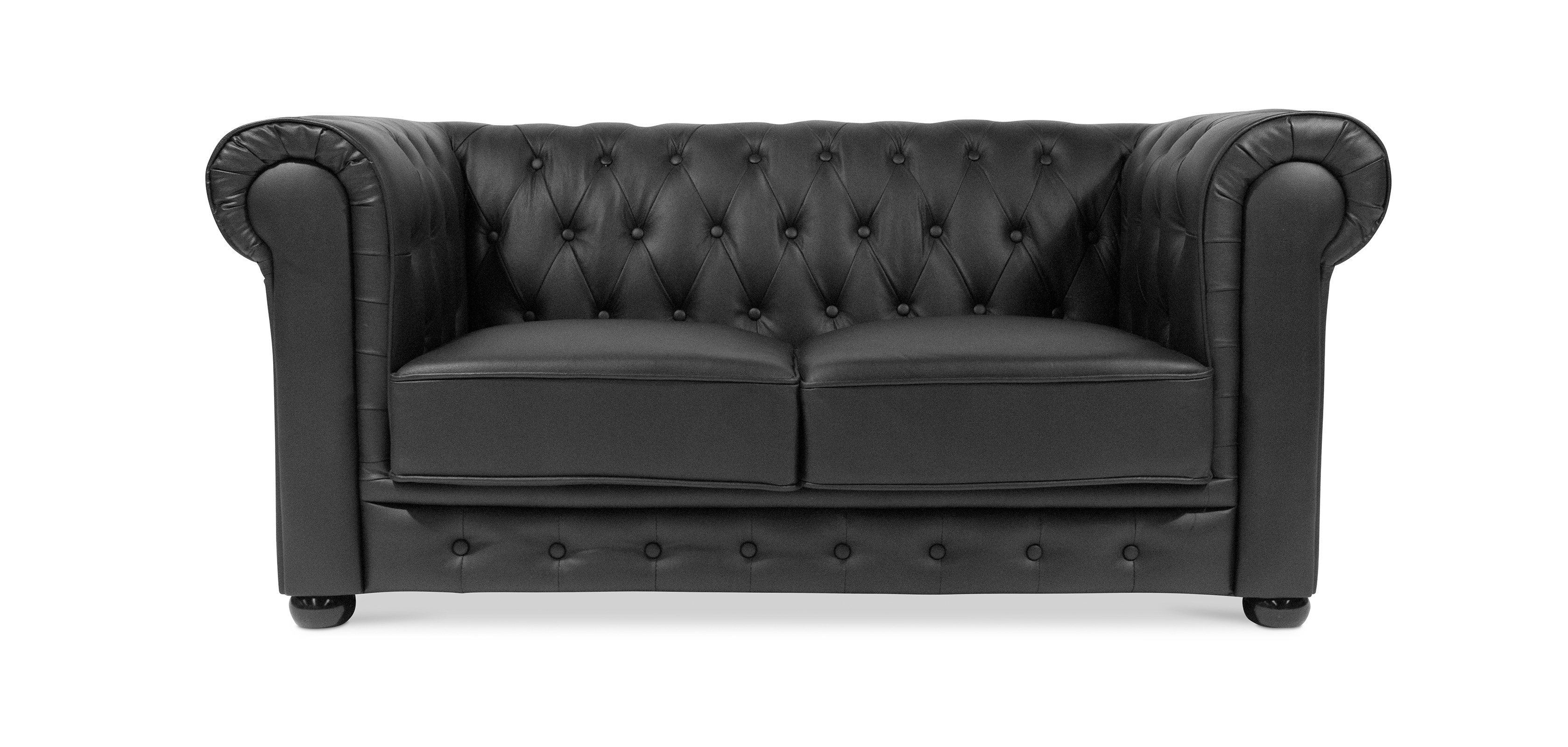 Canap chesterfield nacr 2 places cuir premium pas cher for Canape chesterfield cuir pas cher
