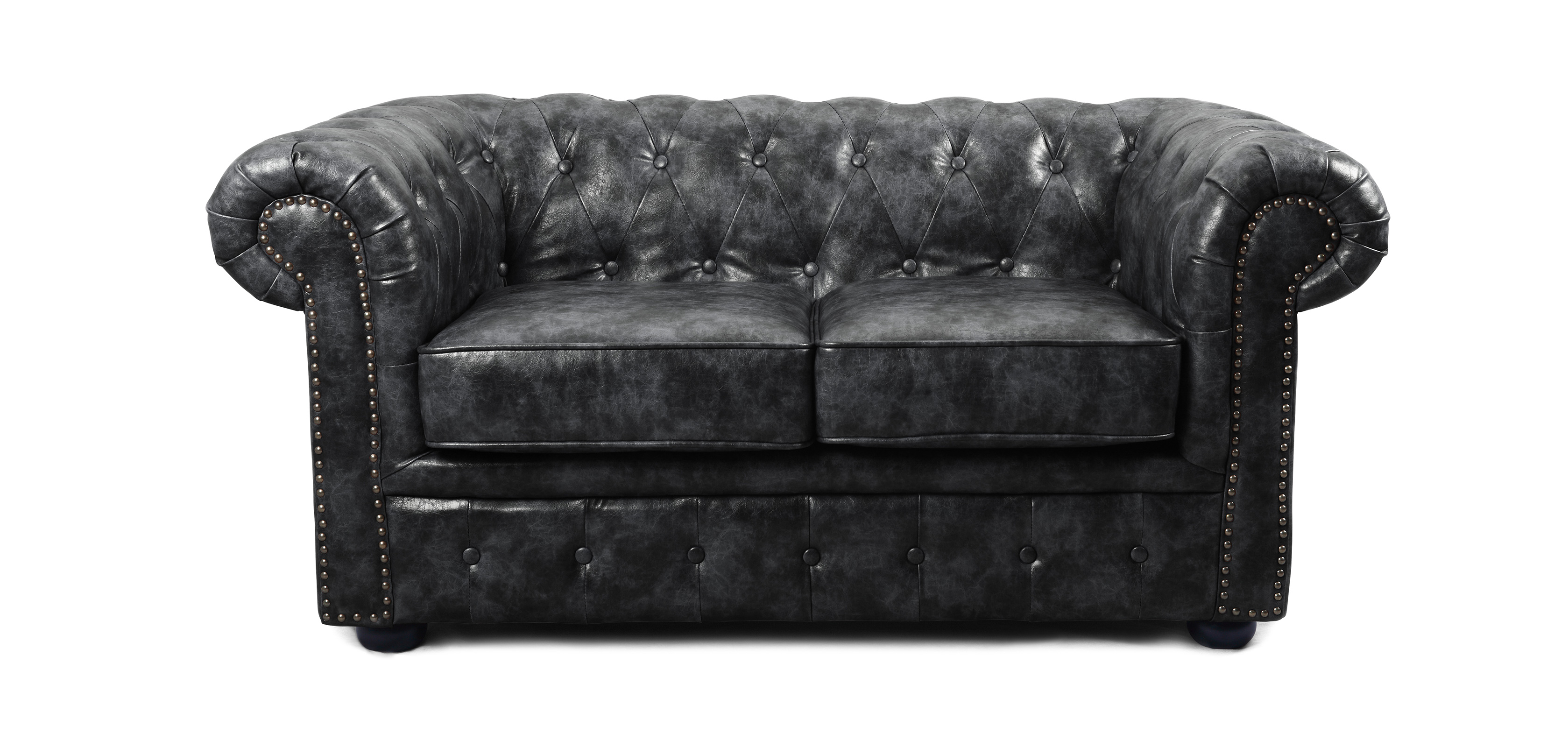 Canap chesterfield vintage 2 places cuir premium pas cher for Canape chesterfield cuir pas cher