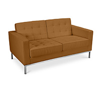 Canapé (2 places) - Style  Florence Knoll - Cuir Premium
