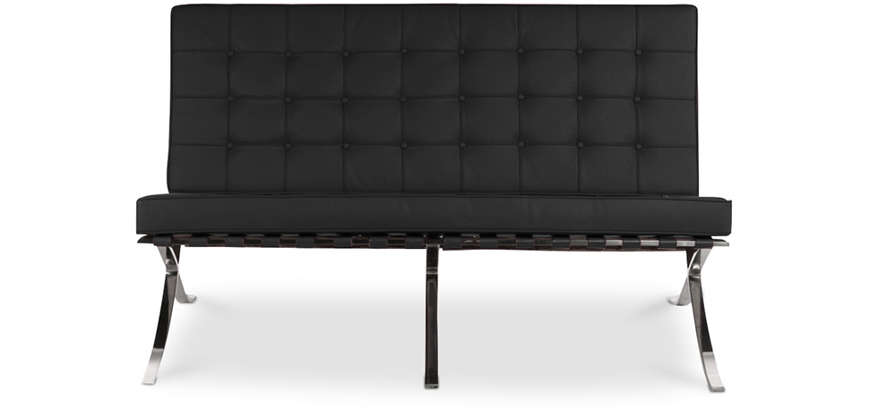 Sof barcelona ludwig style mies van der rohe 2 posti pelle premium d - Canape barcelona mies van der rohe ...
