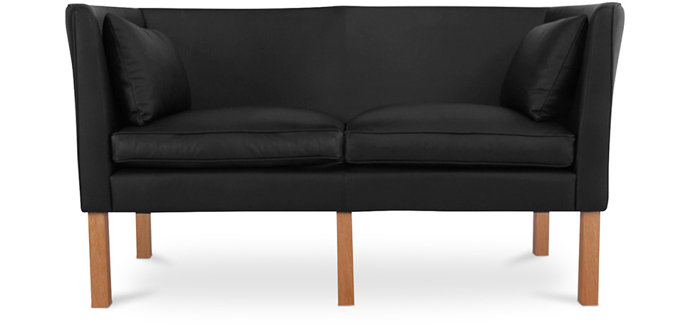 skandinavisches design sofa 2214 zweisitzer b rge mogensen hochwertiges leder zweisitzer. Black Bedroom Furniture Sets. Home Design Ideas