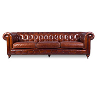 Canapé Chesterfield Churchill Lounge - 3 places- Cuir Premium