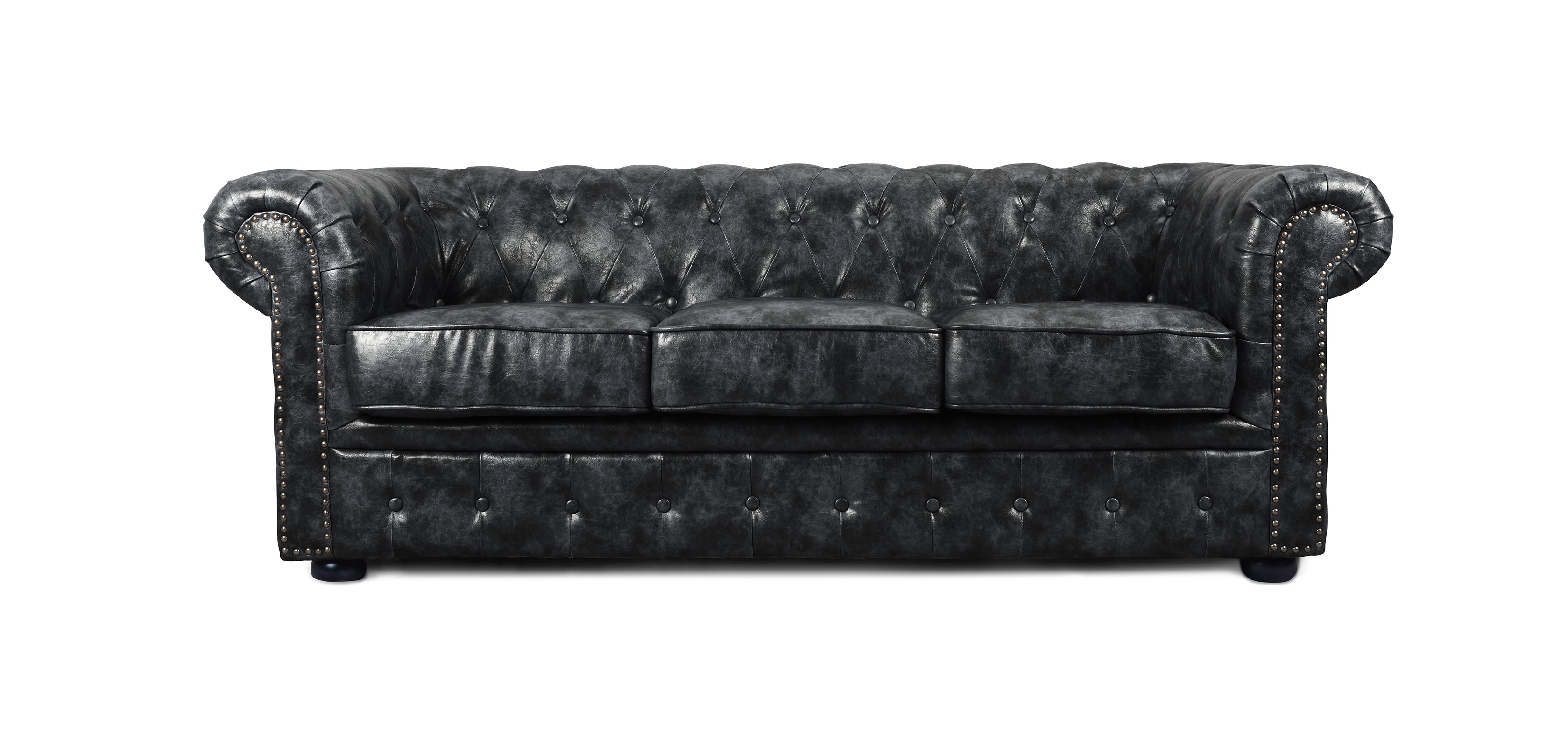 Canap chesterfield vintage 3 places cuir premium pas cher for Canape chesterfield cuir pas cher