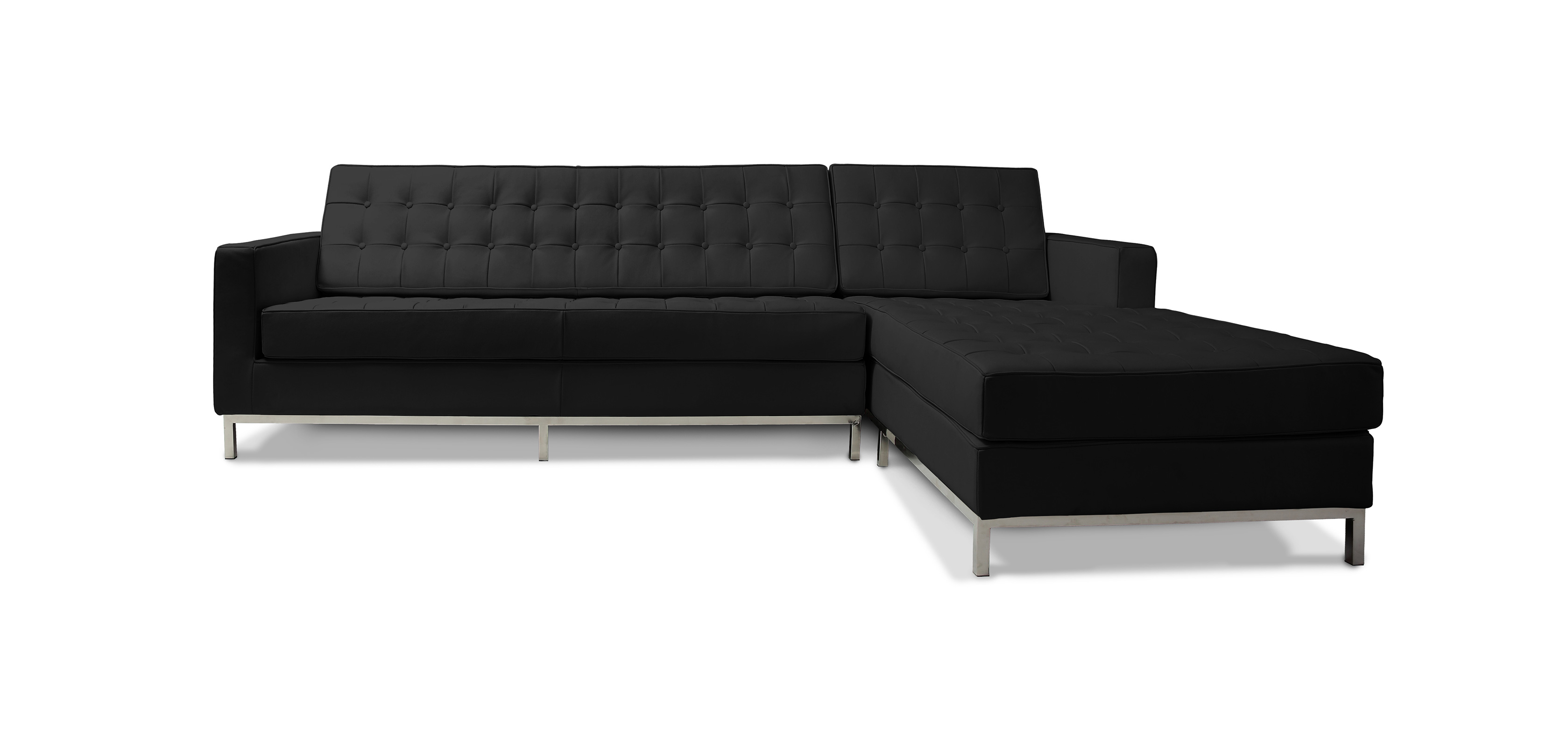 Design Corner Sofa Florence Knoll Style Right Angle Faux Leather Corner Sofas