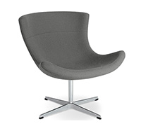 Chaise Jet Lounge -Style Flemming Busk & Stephan Hertzog - Simili Cuir