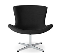Jet Lounge Chair - Flemming Busk & Stephan Hertzog - Faux Leather