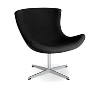 Chaise Jet Lounge -Style Flemming Busk & Stephane Hertzog - Cuir Premium