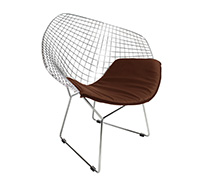 Chaise Diamond - Style Harry Bertoia - Cuir Premium