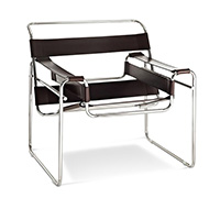 Chaise Wassily - Style Marcel Breuer - Simili Cuir