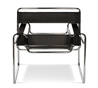 Sedia Wassily Marcel Breuer style - similpelle