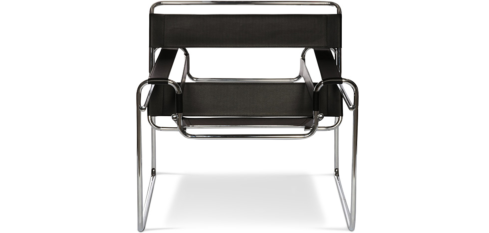 chaise wassily style marcel breuer simili cuir pas cher. Black Bedroom Furniture Sets. Home Design Ideas
