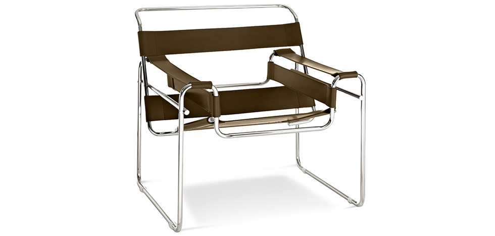 Wassily Chair Marcel Breuer Style Faux Leather