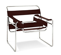 Chaise Wassily - Style Marcel Breuer - Cuir Premium