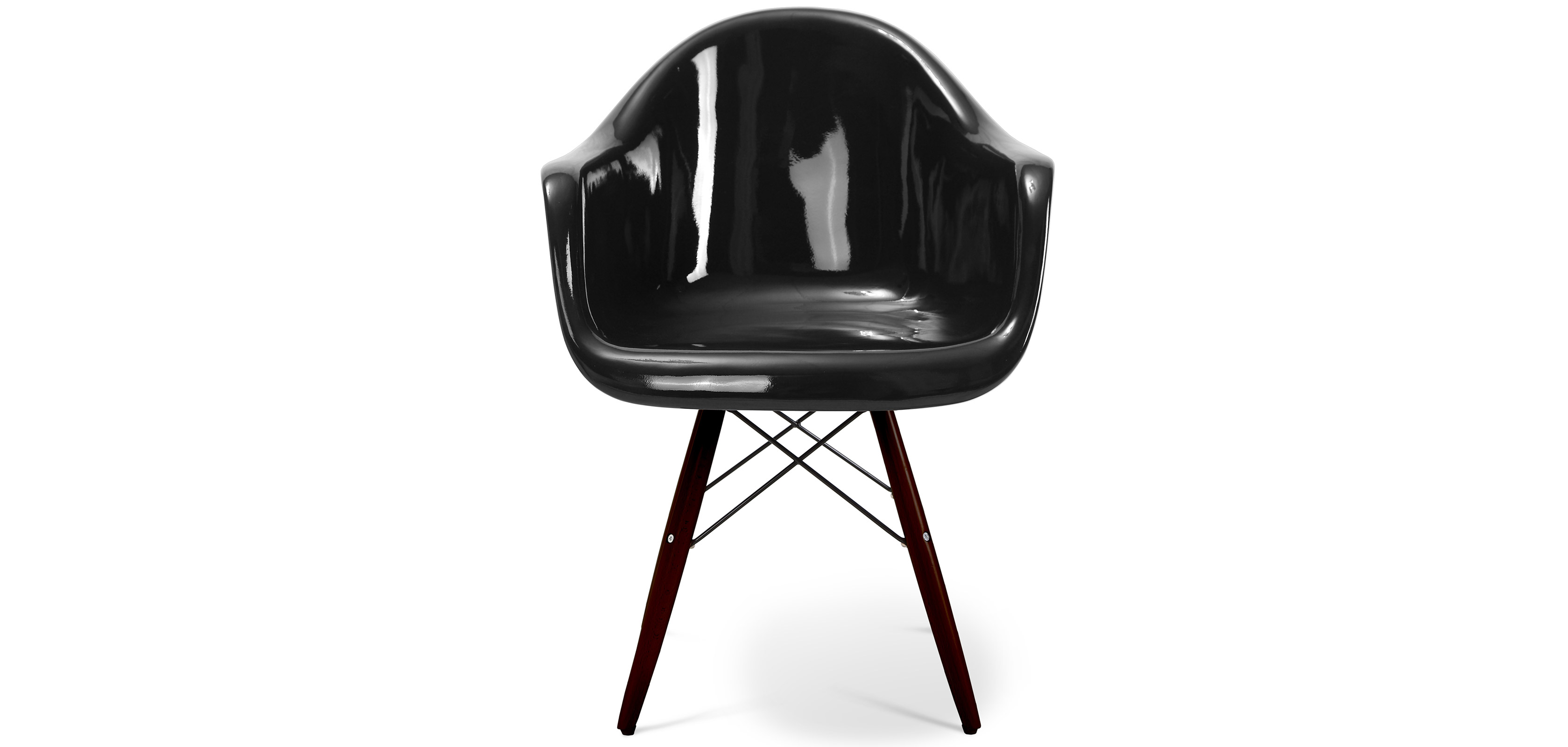 dark legs darwin chair fiberglass gloss living room chairs. Black Bedroom Furniture Sets. Home Design Ideas