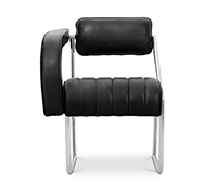 Non-Conformist Chair - Eileen style Grey - Premium Leather