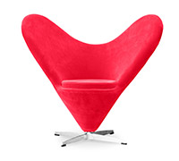 Chaise Heart Cone Verner Panton Style