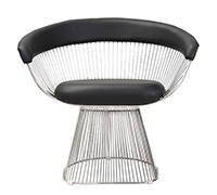 Platner style Chair - Faux Leather