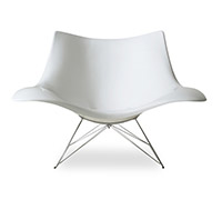 Stingray Rocking Chair - Thomas  Pedersen style - Fiberglass