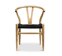 Wishbone Chair CH24 Hans J. Wegner style - Black Seat