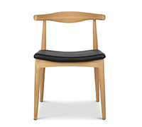 Scandinavian design Elbow Chair CH20 Hans J. Wegner style - Faux Leather