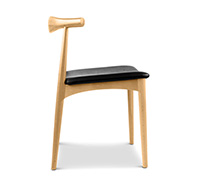 skandinavisches design elbow stuhl ch20 hans j wegner kunstleder esszimmerst hle. Black Bedroom Furniture Sets. Home Design Ideas