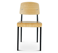 Standard Design Chair Jean Prouvé Style inspiration - Wood