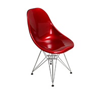 Chaise style DSR Charles Eames Style - ABS Brillant