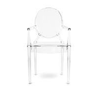 Louis Ghost Armchair Philippe S. Style - Set of 4