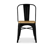 Tolix Chair Square Wooden seat Xavier Pauchard Style - Metal