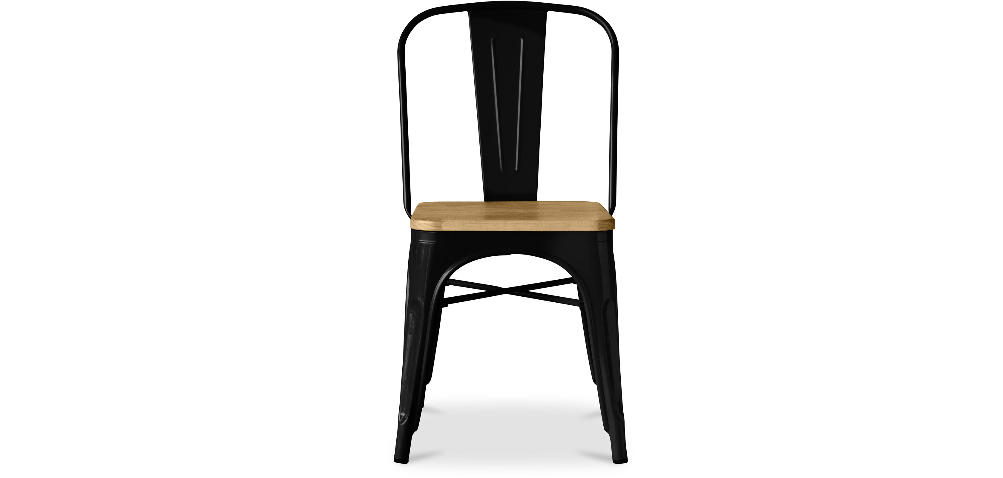 tolix chair square wooden seat xavier pauchard style metal dining chairs. Black Bedroom Furniture Sets. Home Design Ideas