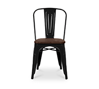 Tolix Chair Wooden seat Xavier Pauchard Style - Metal