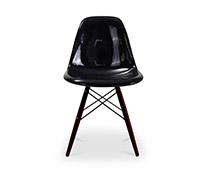 Dark legs Geneva Chair - Fiberglass Gloss