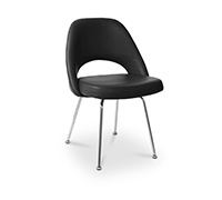 Side Executive Chair Eero Saarinen style - Faux Leather