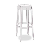 Tabouret de bar Charles Ghost Philippe S. Style - 75cm