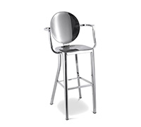 Kong design Bar Stool with armrests Philippe Starck Inspiration  - 76cm