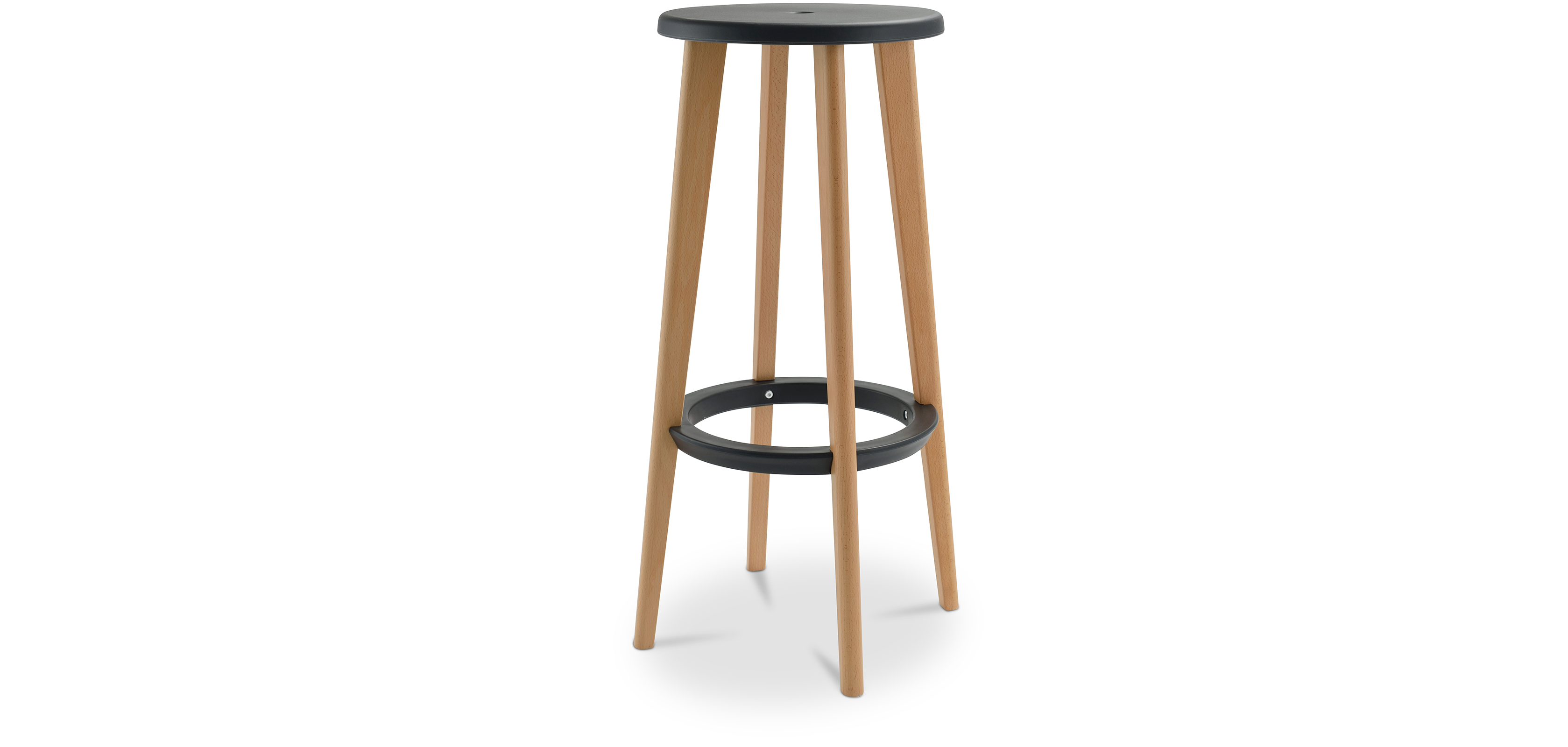 tabouret de bar cesar 76cm bois pas cher. Black Bedroom Furniture Sets. Home Design Ideas