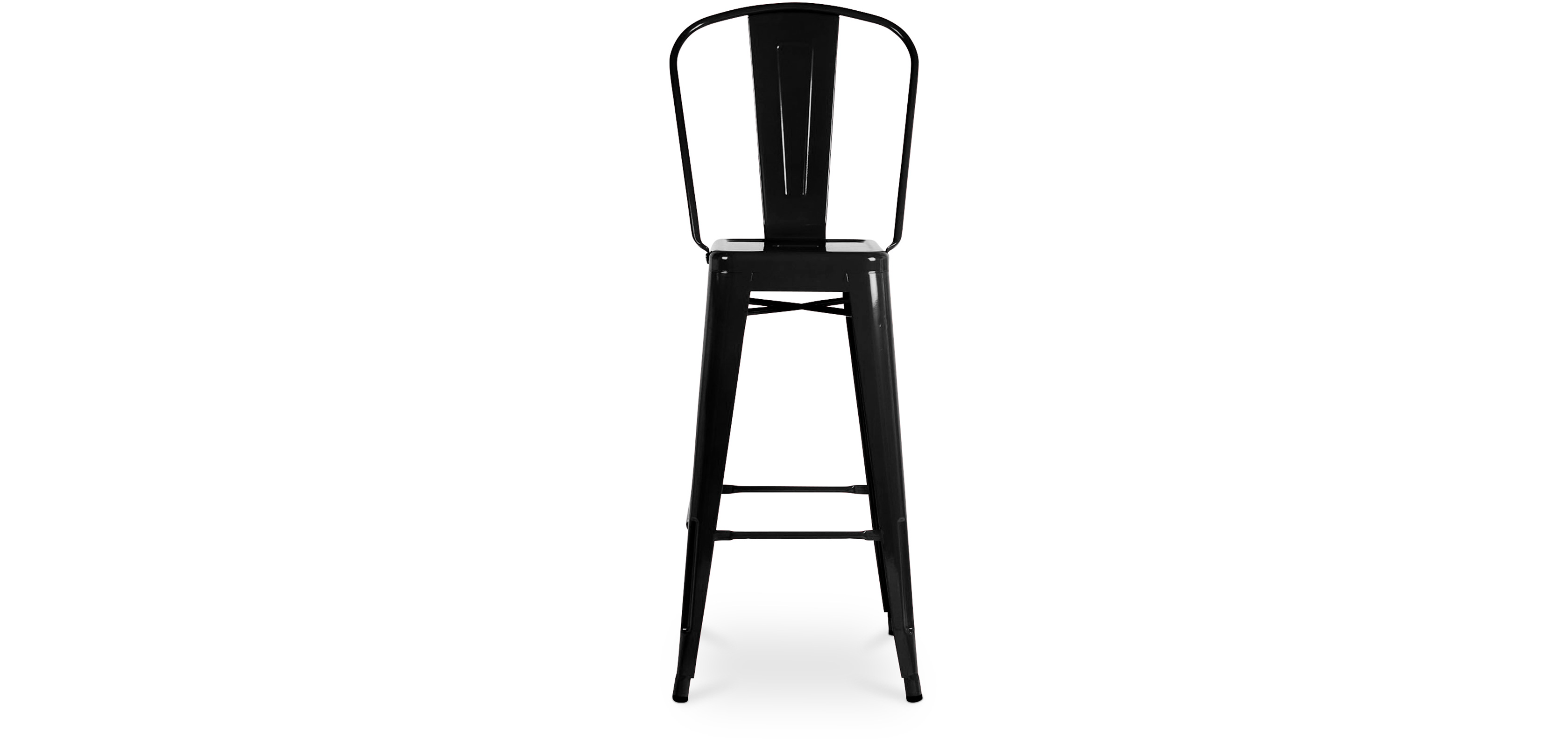 Xavier Pauchard tolix square seat bar stool with backrest xavier pauchard style