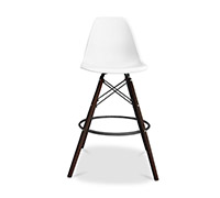 Dark legs Geneva Bar Stool - Polypropylene Matt