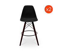 Dark legs Geneva Bar Stool - Polypropylene Matt - Set of 2