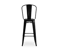 Tolix square seat bar stool with backrest Xavier Pauchard Style - 60cm