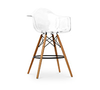 Tabouret DAW transparent Charles Eames Style