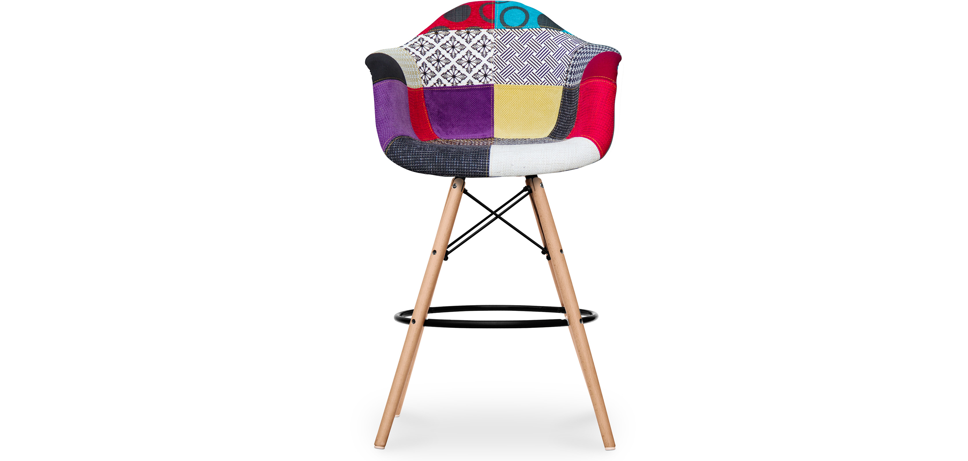 tabouret de bar darwin patchwork pas cher. Black Bedroom Furniture Sets. Home Design Ideas