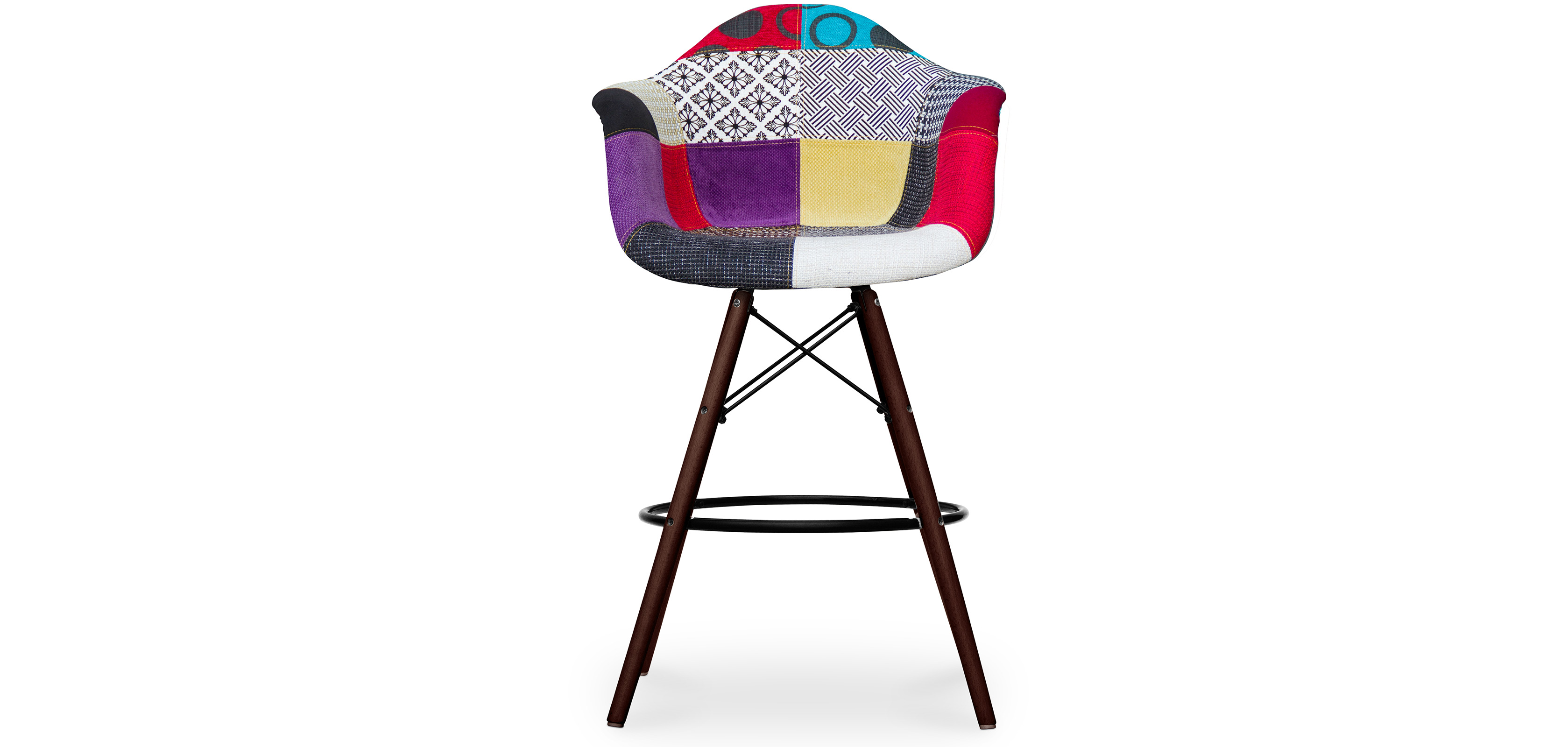 tabouret de bar darwin pi tement fonc patchwork pas cher. Black Bedroom Furniture Sets. Home Design Ideas