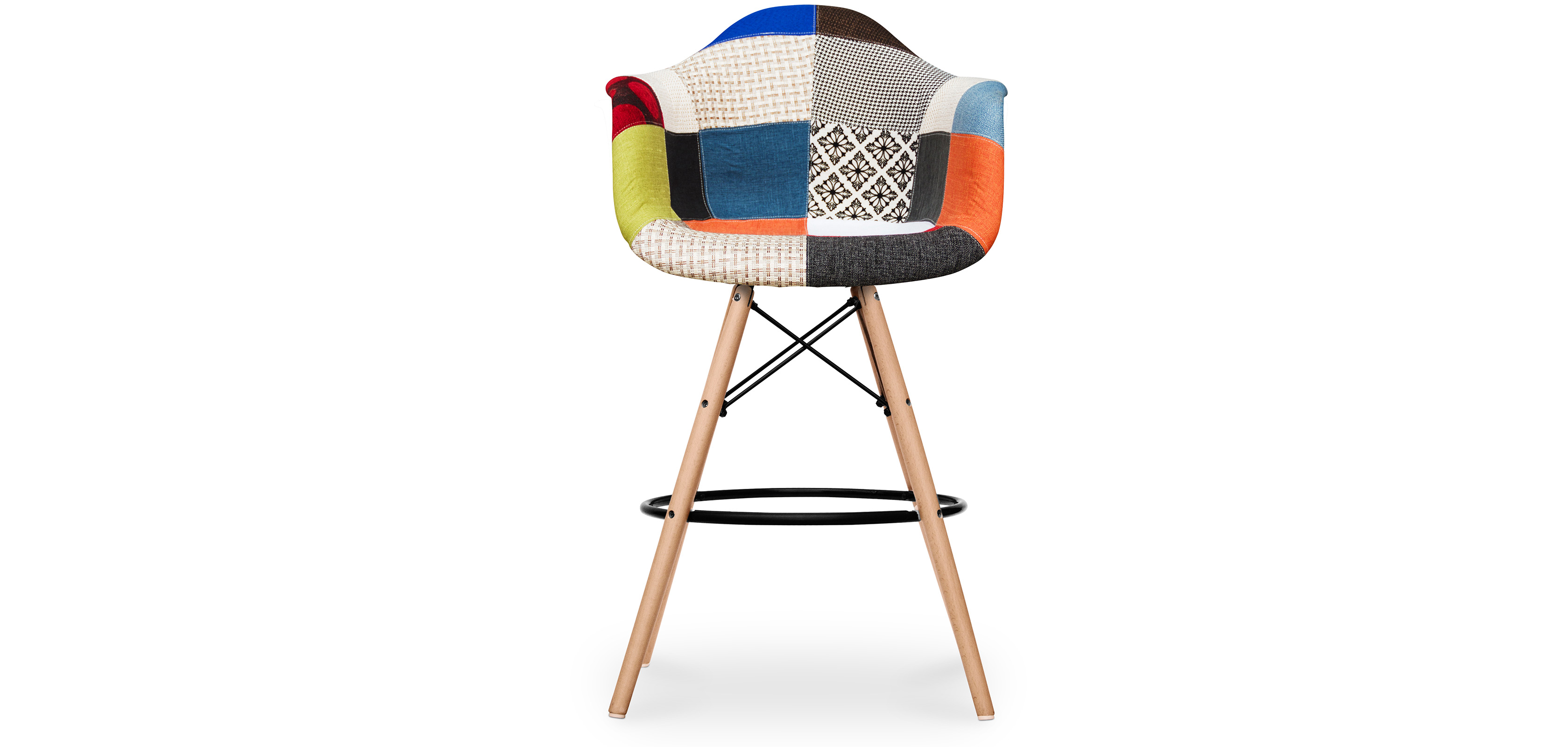 tabouret de bar darwin patchwork pixi pas cher. Black Bedroom Furniture Sets. Home Design Ideas