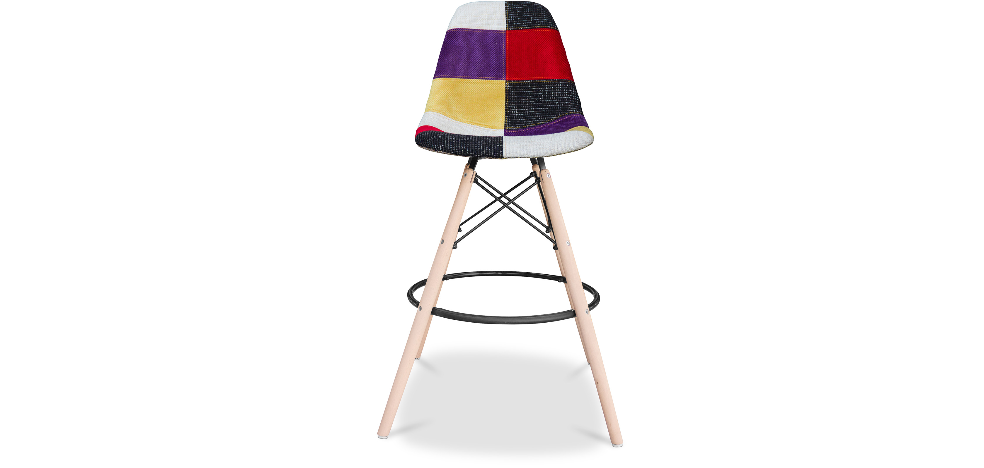 tabouret de bar geneva patchwork pas cher. Black Bedroom Furniture Sets. Home Design Ideas